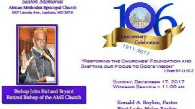 Seaton Memorial 106 Church Anniversary