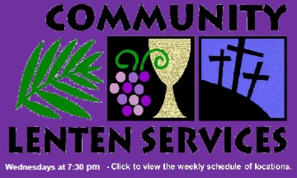 Lenten Services Schedule