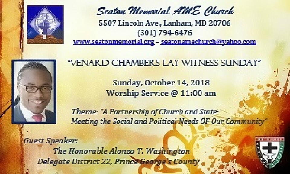 Venard Chambers Lay Witness Sunday