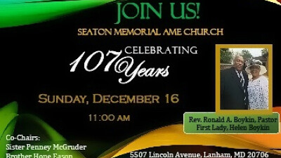 107 Church Anniversary Celebration