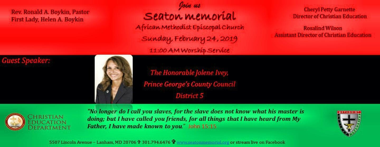 Black History Sunday Celebration