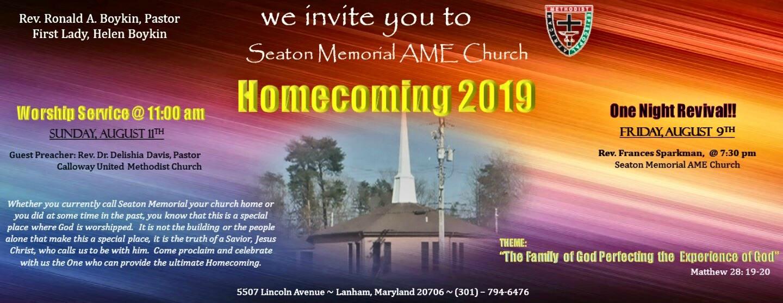 Seaton Memorial Homecoming 2019