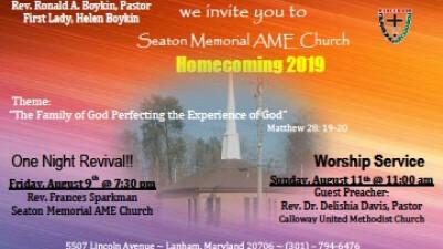 """Seaton Memorial Homecoming Celebration 2019"""