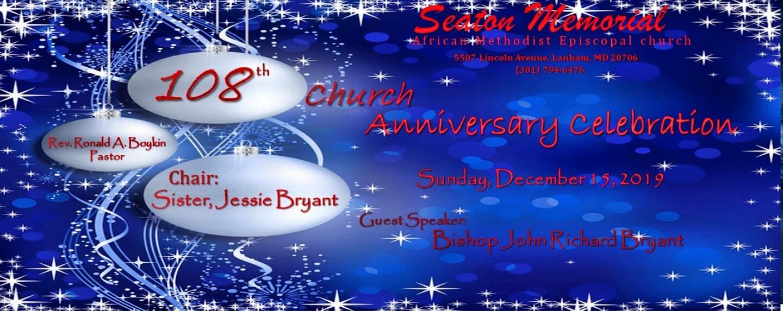 Church Anniversary 108