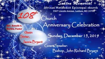 108 Church Anniversary Celebration