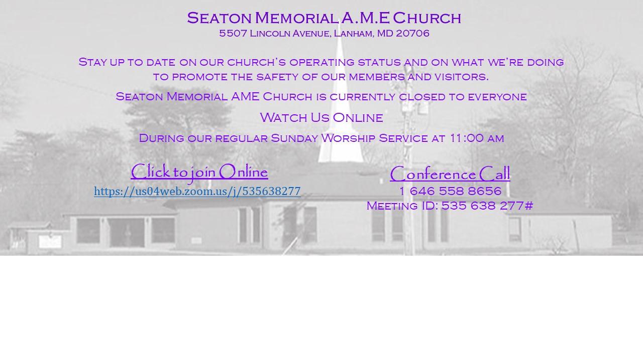 Seaton Memorial Flyer