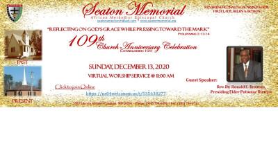 109 Virtual Church Anniversary Celebration